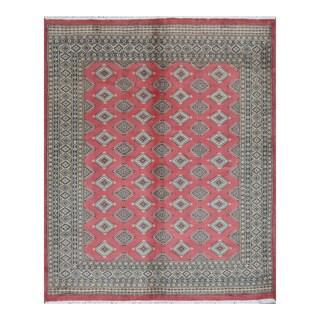 Herat Oriental Pakistani Hand-knotted Bokhara Wool Rug (6'8 x 8'1) - 6'8 x 8'1