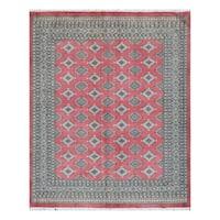 Handmade Herat Oriental Pakistani Bokhara Wool Rug (Pakistan) - 6'9 x 8'3