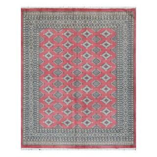 Herat Oriental Pakistani Hand-knotted Bokhara Wool Rug (6'9 x 8'3)