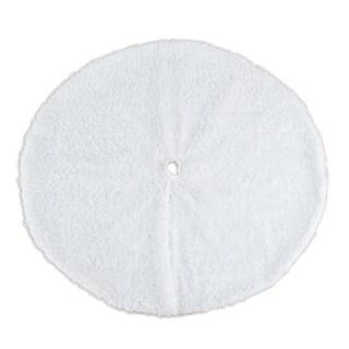 Lovely White Shag 53-inch Round Lined Tree Skirt