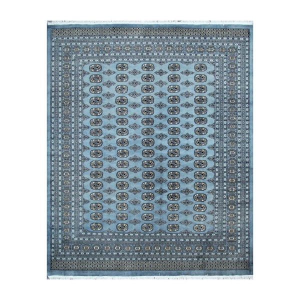 Persian Bokhara Hand Knotted Wool Area Rug: Shop Herat Oriental Pakistani Hand-knotted Bokhara Blue