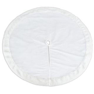 Magnum White Trim 57-inch Round Tree Skirt