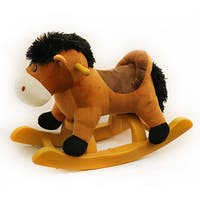 Ponyland 24-inch Brown Rocking Horse with Sound