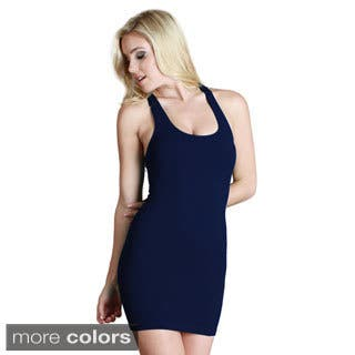 8b3bb81499 Nikibiki Women s Seamless Ribbed Basic Racerback Dress