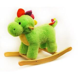Ponyland Toys 24-inch Green Plush Rocking Dinosaur