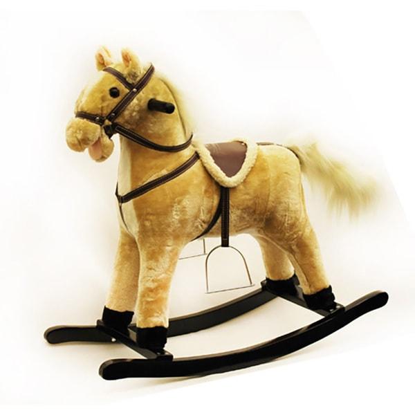Ponyland Soft Plush Animated Rocking Horse
