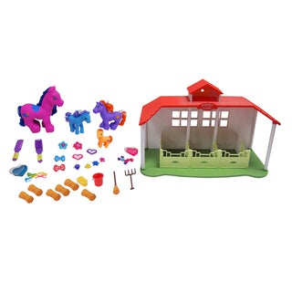 Gi-go Toys Mega Horse Ranch Set - Animals/Pets