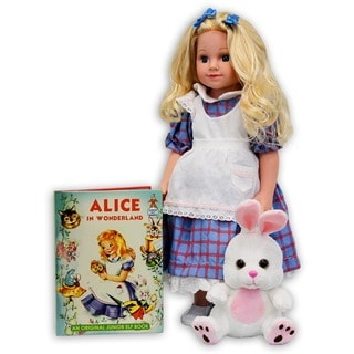 Dazzleworks Deluxe Once Upon A Time Alice in Wonderland Storybook Doll