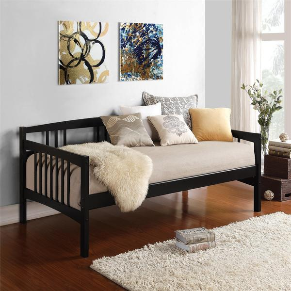 Shop Dorel Living Kayden Black Twin Daybed Free Shipping