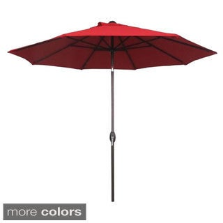 Abba Patio 9 Foot Patio Umbrella Sunbrella Fabric Aluminum Market Umbrella with Auto Tilt and Crank