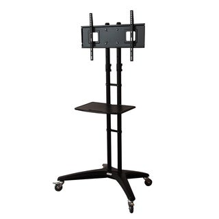 Loctek TV Flat Panel Wheeled Cart Stand with 32 to 65-inch Mounting Bracket and Shelf