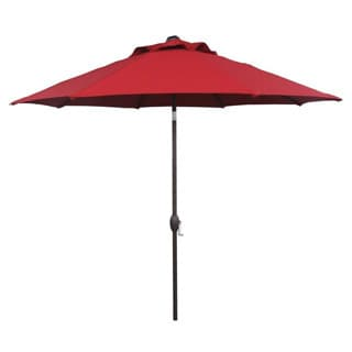 Abba Patio 9-foot Outdoor Patio Table Aluminum Umbrella with Auto Tilt and Crank