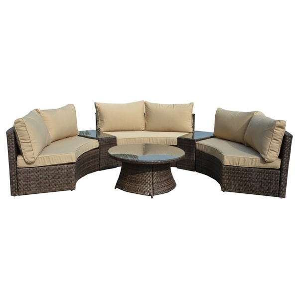 Manhattan Comfort Pearl Semi Circle Outdoor Sofa Patio Set Free Shipping Today 10218358