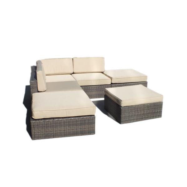 Manhattan Comfort Robinson L Shaped Outdoor Patio Sofa Set