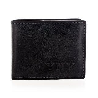 YNY Fashion Men's Leather Black Bi-fold Wallet