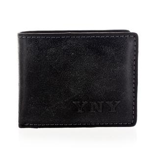 YNY Fashion Men's Leather Black Bi-fold Wallet