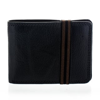 Yacht Fashion Men's Leather Elastic Index Bi-fold Wallet