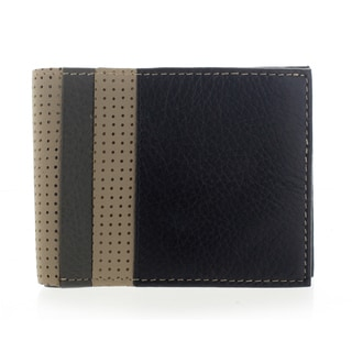 YL Fashion Men's Leather Black Bi-fold Wallet
