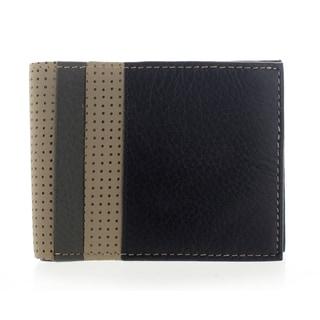YL Fashion Men's Leather Black Bi-fold Wallet