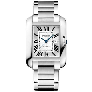 Cartier Men's W5310009 Tank Anglaise Rectangle Silvertone Bracelet Watch