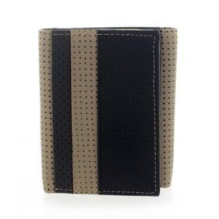 YL Fashion Men's Leather Black Tri-fold Wallet