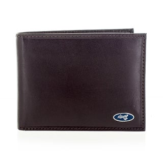 Yacht Fashion Men's Leather Brown Bi-fold Wallet