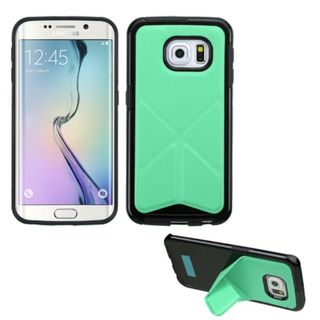 Insten TPU Rubber Candy Skin Phone Case Cover with Stand For Samsung Galaxy S6 Edge