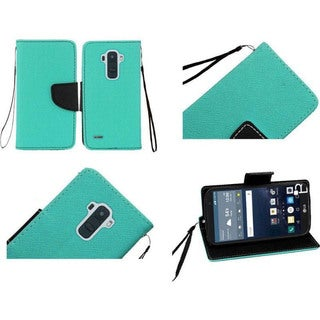 Insten Leather Wallet Flap Pouch Phone Case Cover Lanyard with Stand For LG G Stylo