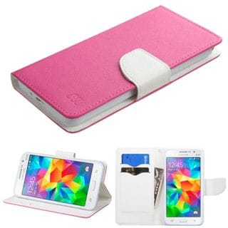 Insten Leather Wallet Flap Pouch Phone Case Cover with Stand For Samsung Galaxy Grand Prime