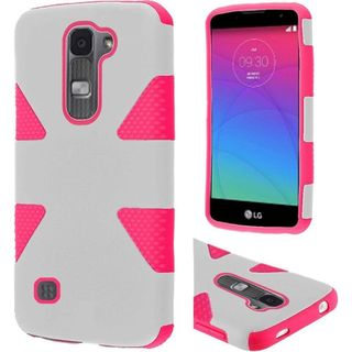 Insten Dynamic Hard PC/ Soft Silicone Dual Layer Hybrid Rubberized Matte Phone Case Cover For LG Spirit 4G LTE
