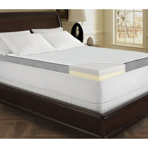 Sinomax Sleep 4 Inch Ultra Layered Memory Foam Mattress Topper Free Shipping Today Overstock