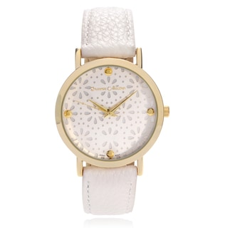 Journee Collection Women's Print Dial Faux Leather Strap Watch