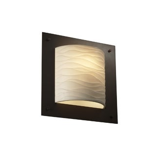 Justice Design Group Porcelina Framed Square ADA Sconce, Bronze