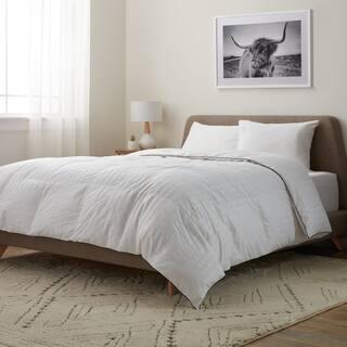Elle Microfiber Pinstripe White Down Comforter https://ak1.ostkcdn.com/images/products/10218814/P17340574.jpg?impolicy=medium