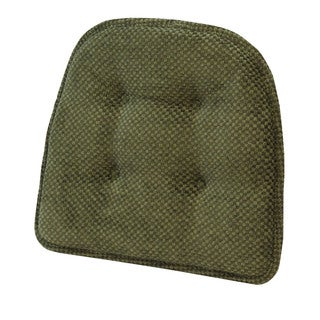 Rembrandt Green Tufted Chair Pad (Set of 2)