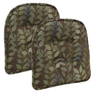 Dora Chocolate Tufted Chair Pad (Set of 2)
