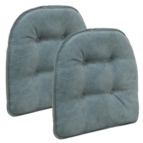 Twillo Marine Tufted Chair Pad (Set of 2)