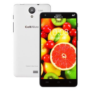 CellAllure Smart III 5.0-inch Screen IPS/ Dual SIM/ 4G HPSD+ Factory Unlocked White Android Smartphone