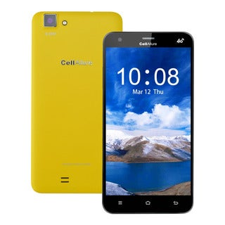 CellAllure Cool 5.5 OGS/ Dual SIM/ 4G HPSD+/ 5.5-inch Screen/ Yellow Factory Unlocked Android Smartphone