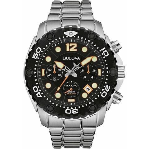 Bulova Sea King Men's 98B244 Sainless Steel 300M Water Resistant Watch - Black
