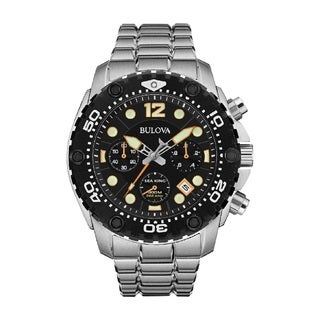 Bulova Sea King Men's 98B244 Sainless Steel 300M Water Resistant Watch