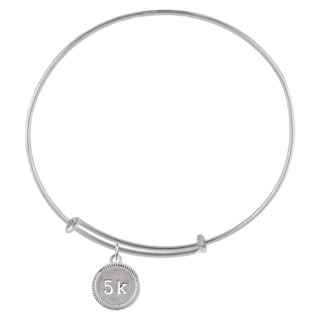 5K Race Sterling Silver Charm Adjustable Bracelet