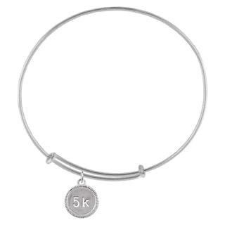 5K Race Sterling Silver Charm Adjustable Bracelet
