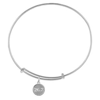 26.2 Marathon Sterling Silver Charm Adjustable Bracelet