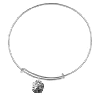 Sand Dollar Sterling Silver Charm Adjustable Bracelet