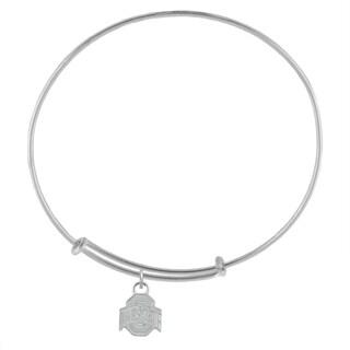 Ohio State Sterling Silver Charm Adjustable Bracelet