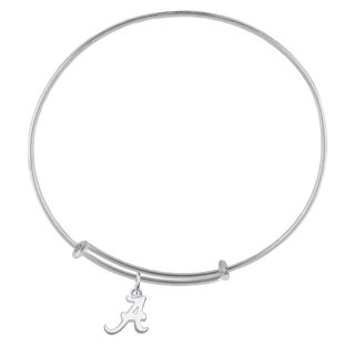 Alabama Sterling Silver Charm Adjustable Bracelet