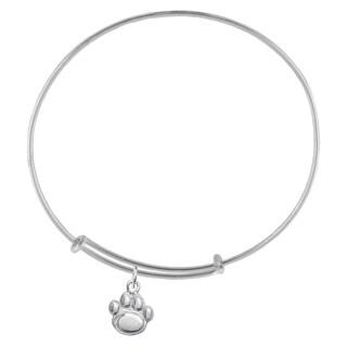 Penn State Sterling Silver Charm Adjustable Bracelet