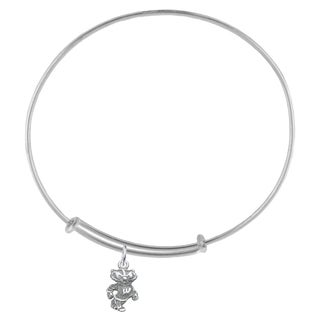 Wisconsin Sterling Silver Charm Adjustable Bracelet