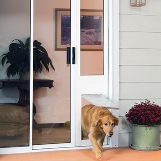"Endura Flap Thermo Panel 3e Small Flap (6""w x 11""h) Pet Door for Sliding Doors"